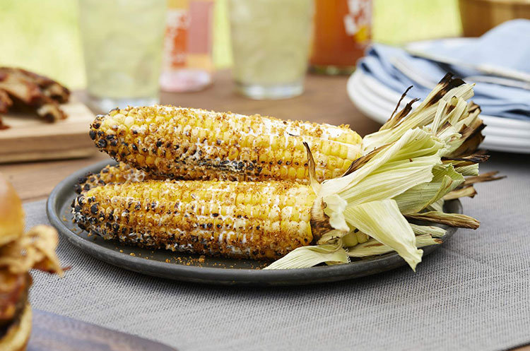 fire grilled corn