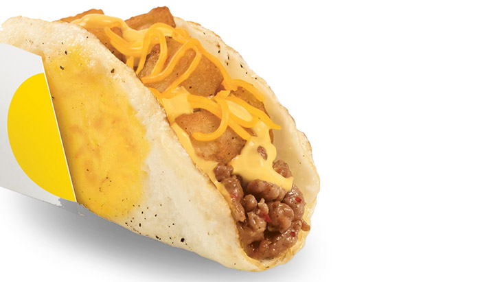 taco bell naked breakfast taco