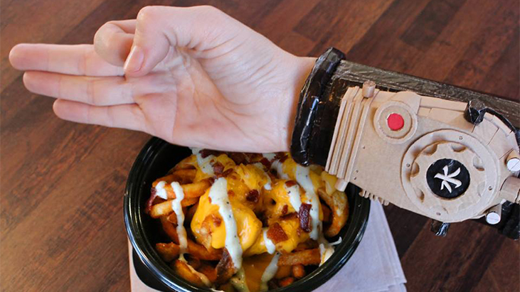 arbys bionic arm fries