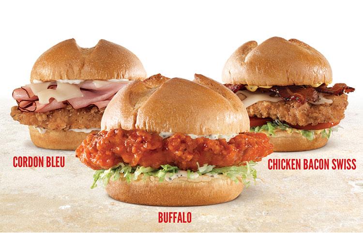 arbys chicken sandwiches