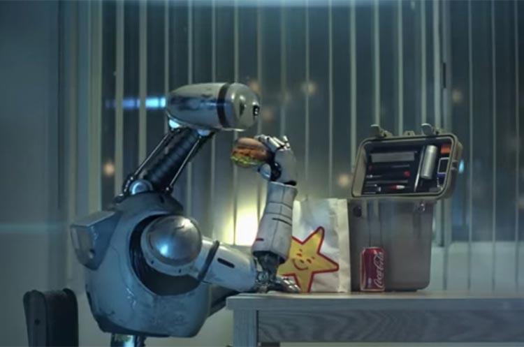 carls jr robot