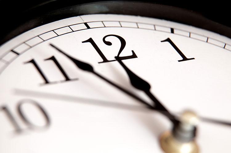 clock noon