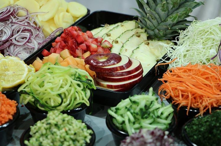 cut fruits veggies