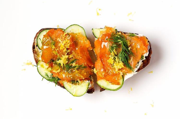 honeybrains salmon toast