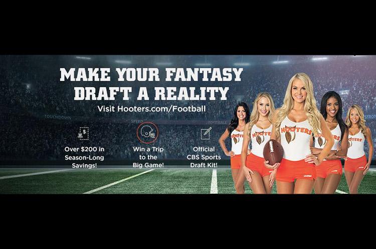 hooters fantasy draft party