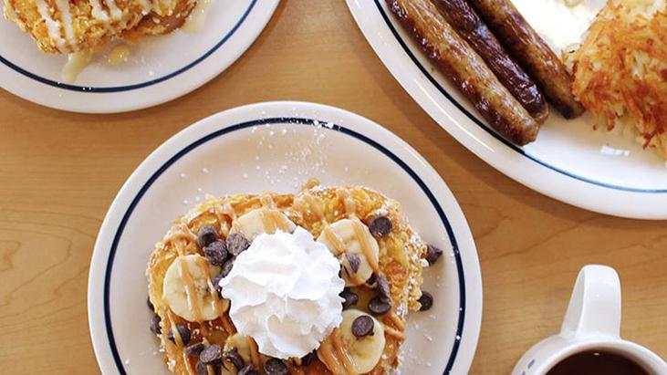 ihop breakfast spread