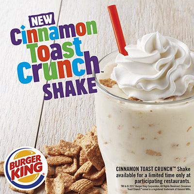 burger king cinnamon toast crunch shake