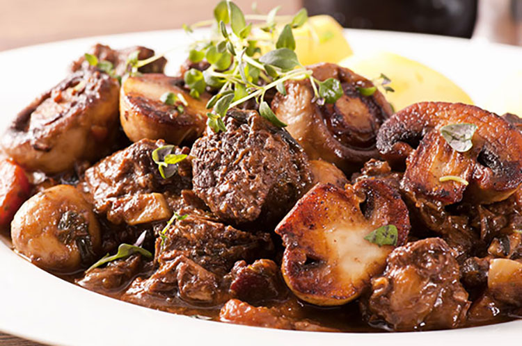 beef and mushrooms