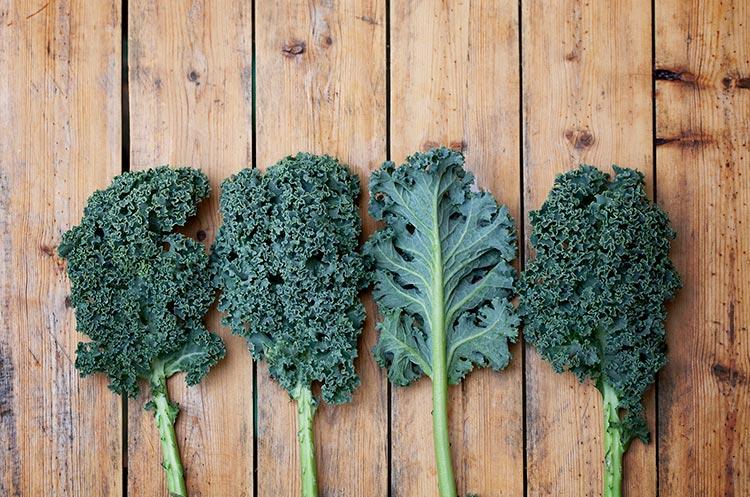 kale cutting board