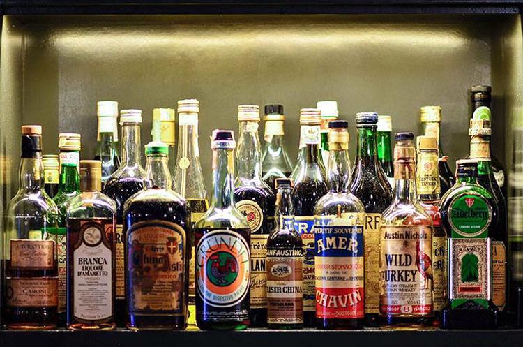 liquor bottles billy sunday