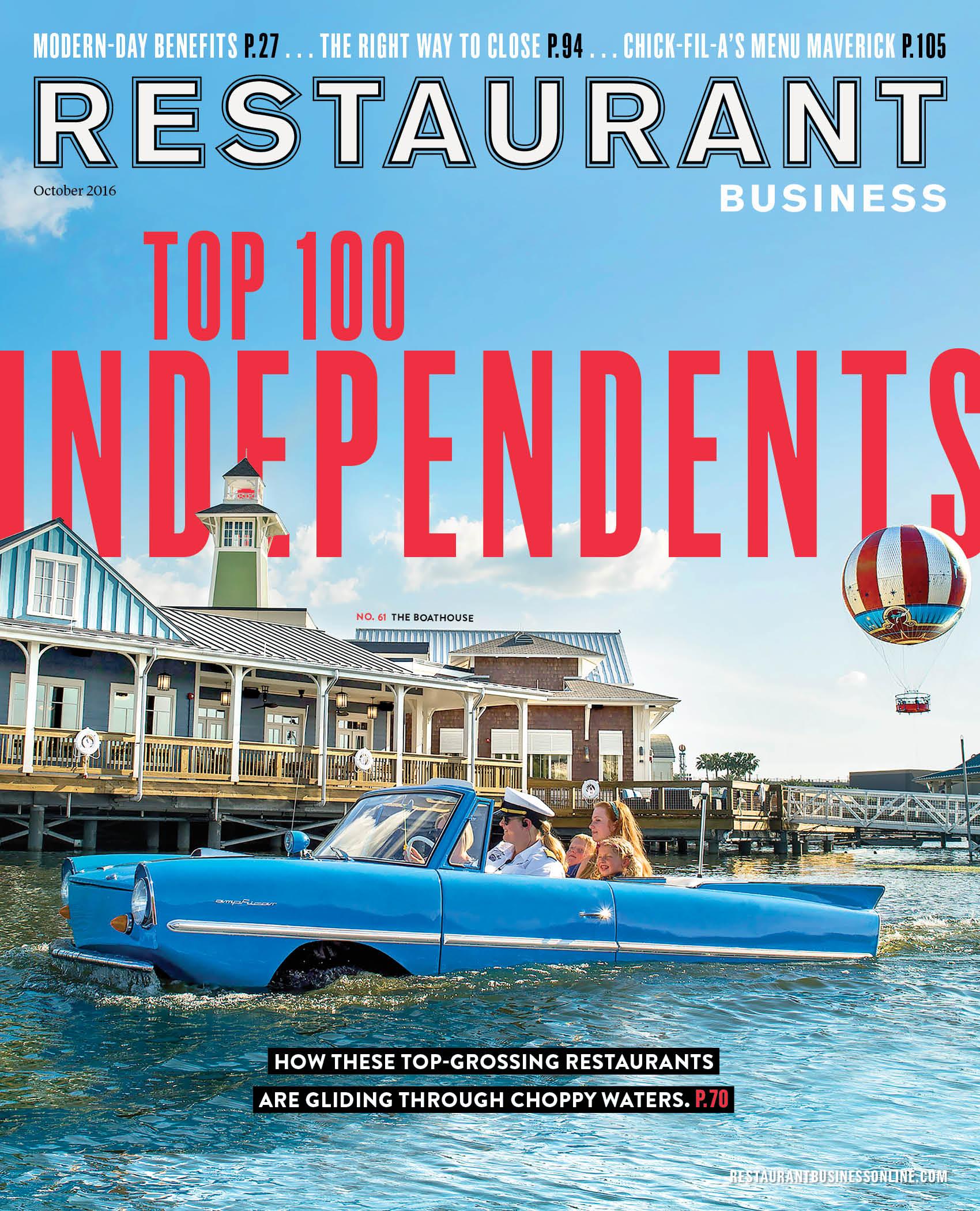 Restaurant Business Magazine October 2016 Issue