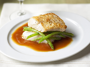 Cod With Local Green Beans And Soy Sherry Sauce