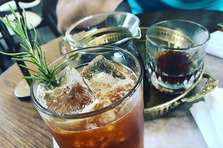 rosemary cold brew limeade