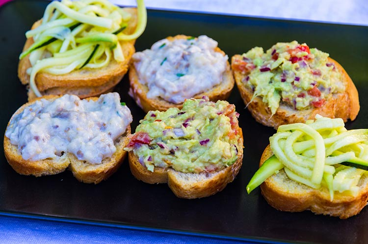 veggie toast assortment